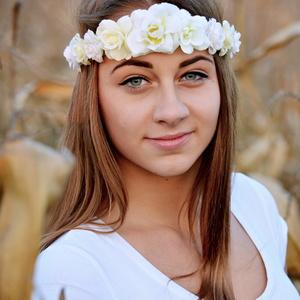 Dievča s kvietkami :)