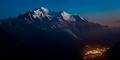 Podvečerný Mont Blanc