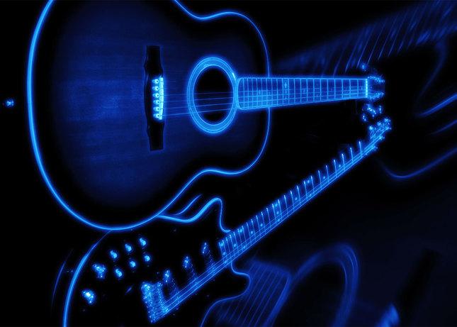 Gitary - luminografia