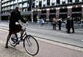 Madam on bike