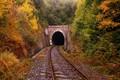 jeseň a tunel