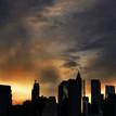 Plane above the Manhattan