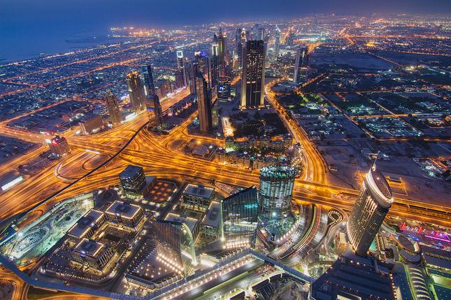 Nočný Dubaj