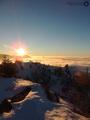 Západ slnka na Polome