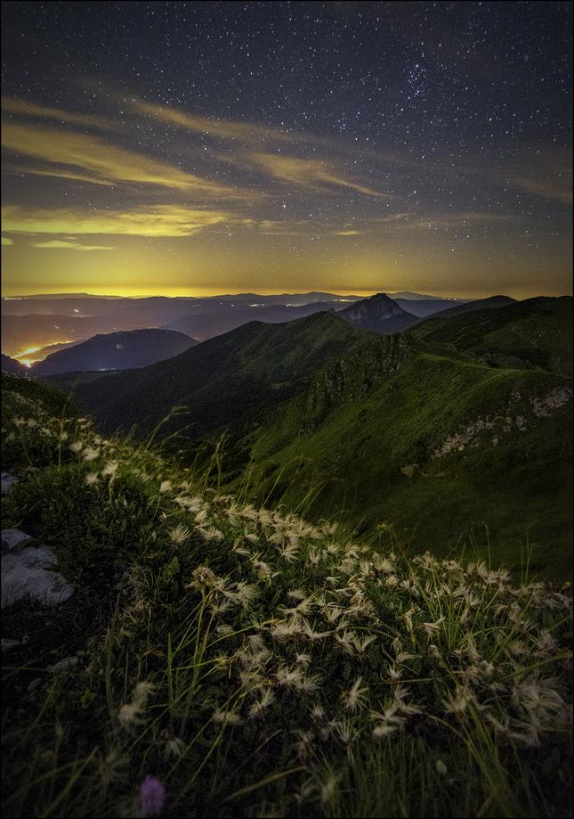 Nočné výhľady z Chlebu...