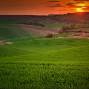 Západ na Morave...