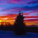 Krvavý západ slnka