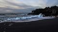Black beach and blue Iceland
