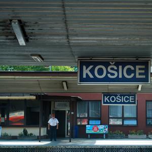 """""""Stanica Košice"""" pri železnici"""