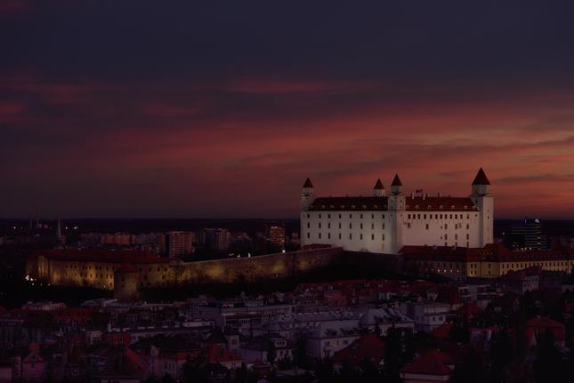 večerný hrad
