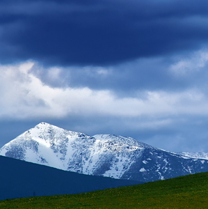 Vysoké Tatry z Lip. Sielnice