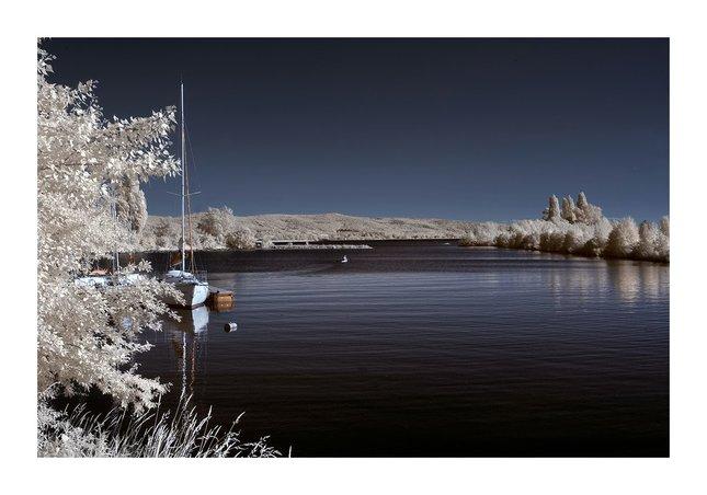 Zamrznutá lodenica v Piešťanoch