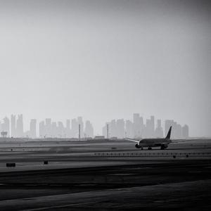 Takeoff z púštneho mesta