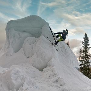 Skiclimbing