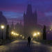 Prague in purple