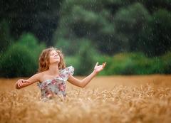 joy on the field during raining