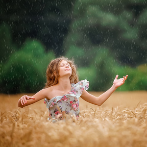 joy on the field during raining