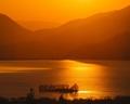 západ slnka na Liptovskom mori