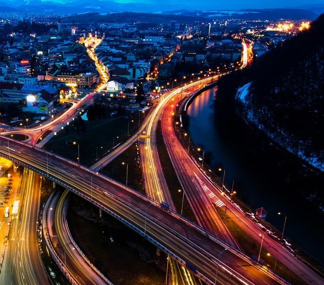 Banska Bystrica at Night