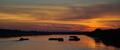 Západ slnka nad Dunajom:)
