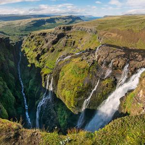 vodopády Glymur