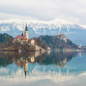 Slovinsko - Bled castle