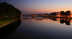 podvečer v Piešťanoch