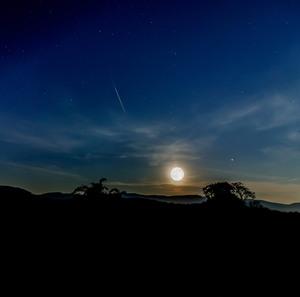 Mesiac s Marsom a Saturnom