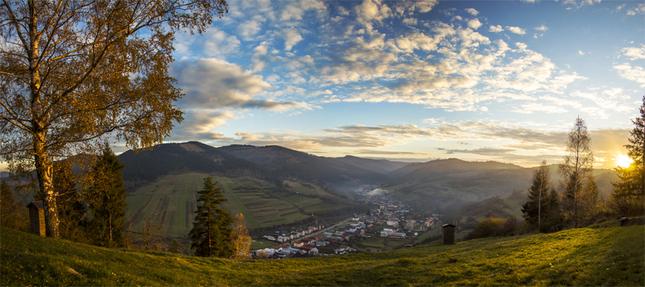 Západ slnka nad Kolačkovom