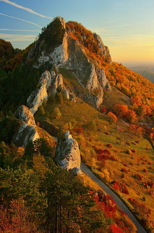 Jesenné ráno na Vršatci