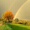 jesenná dúha