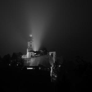 Nitriansky hrad v opare