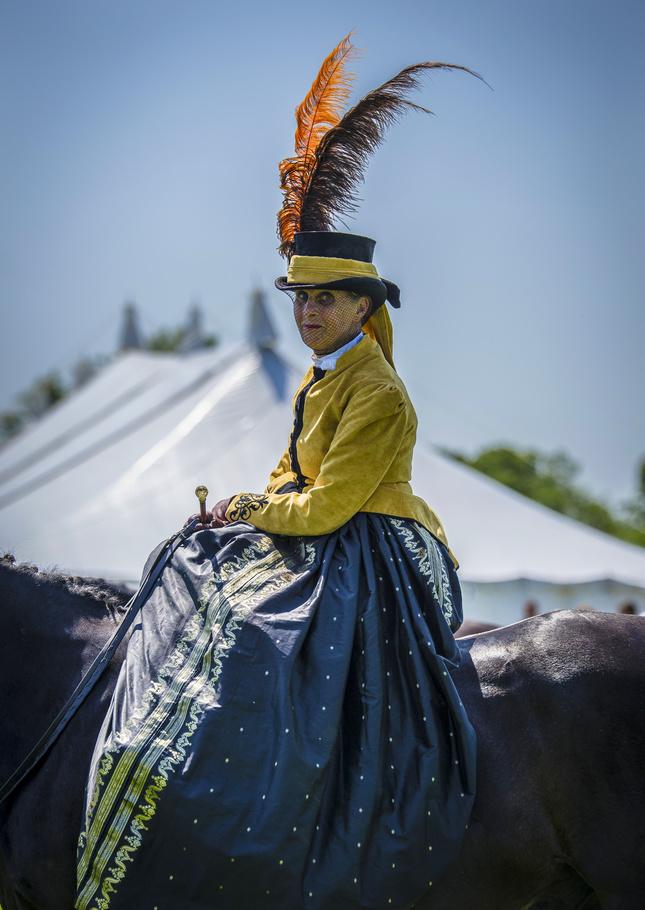 dáma na koni