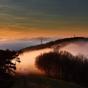 Západ slnka na Bradle