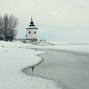 kostolík v zime
