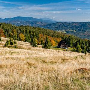 Pohľad z Rycierovej hory.