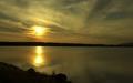 Západ/dnešný/slnka nad Šíravou