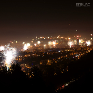 Banská Bystrica pod ohňostrojom