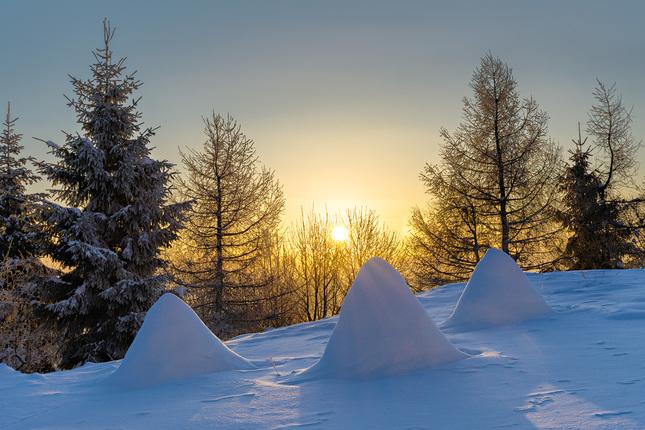 zimné ráno