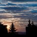 západ slnka a sídlisku