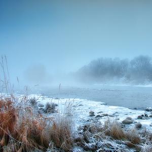 Zima pri rieke