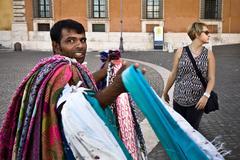 Rím .. pouliční predajcovia