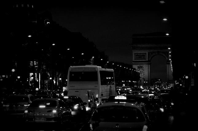 Arc de Triomphe ...by bus.