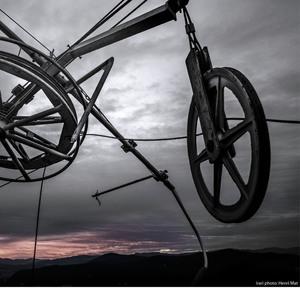 """bicykel"" a východ Slnka"