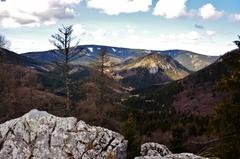 Pohľad zo Skalnej brány 1120 m