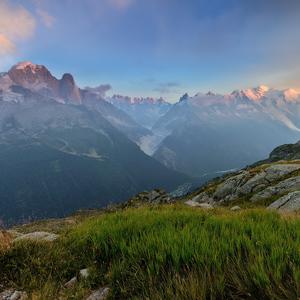 večerný Mont Blanc