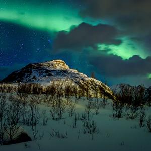 noc za polárnym kruhom
