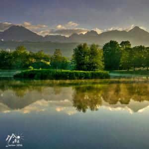 ráno na rybníku