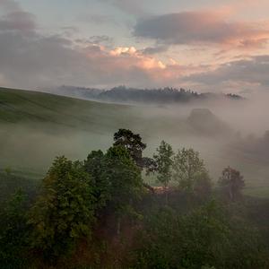 ranná hmla