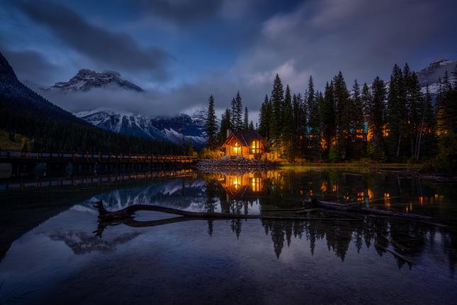 noc pri jazere